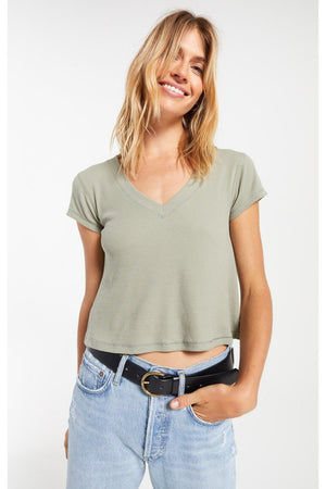 Z Supply Ava Rib V-Neck Tee - T-Shirt - Z Supply - The TLB Boutique