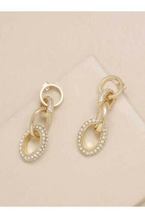 Little Links Crystal and 18k Gold Plated Earring (H) - Earrings - Ettika - The TLB Boutique