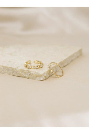 Twisted Link 18k Gold Plated Ring Set - Ring - Ettika - The TLB Boutique