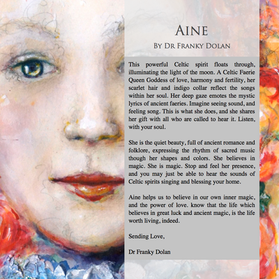 """Aine"" Canvas Hand Embellished Matted Painting-Print by Dr Franky Dolan"