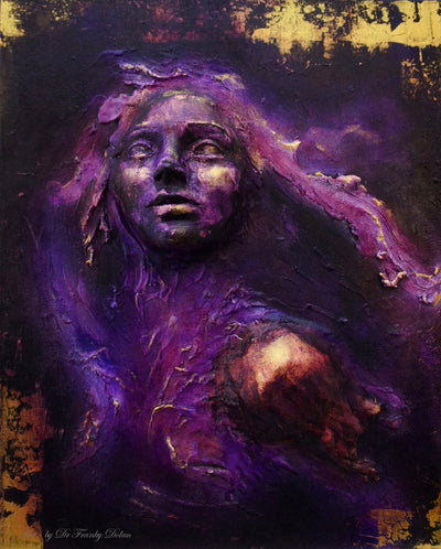 """Purple Heart"" Inspirational Wall Sculpture by Dr Franky Dolan"