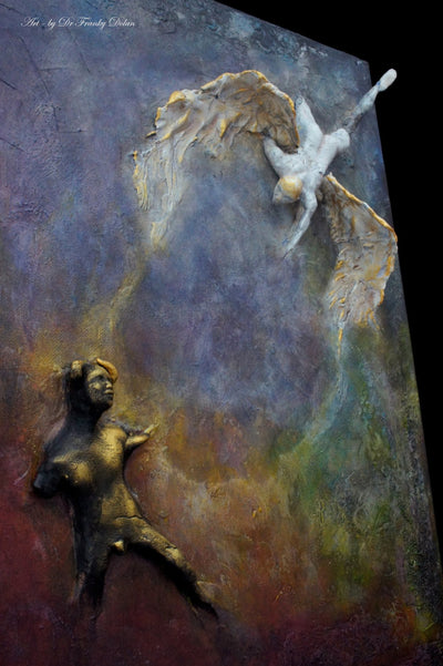 """Against The Forbidden"" Inspirational Wall Sculpture by Dr Franky Dolan"