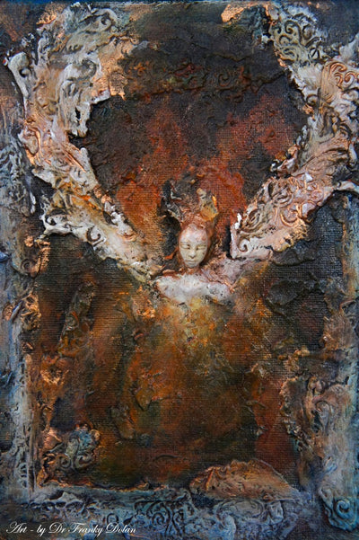 """Earth Angel"" Inspirational Wall Sculpture by Dr Franky Dolan"