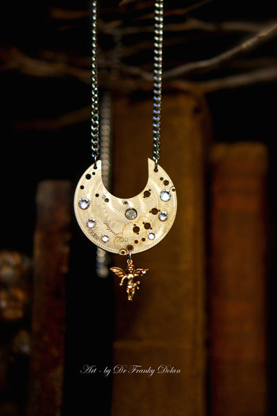 """Angel On High"" 150 year old Storybook Pendant Necklace by Dr Franky Dolan"