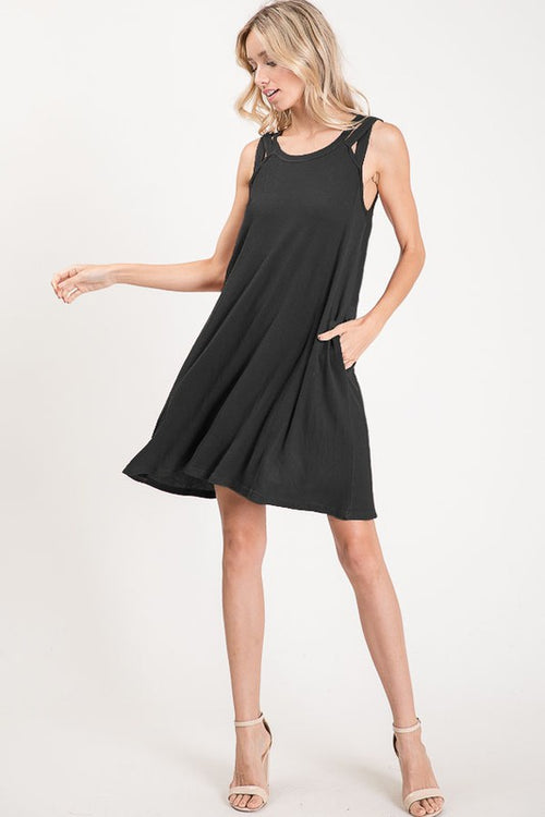 Heaven's What I Feel Sleeveless Midi Dress, Black S-XL