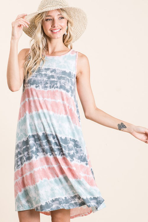 Heaven's What I Feel Sleeveless Midi Dress, Tie Dye S-XL