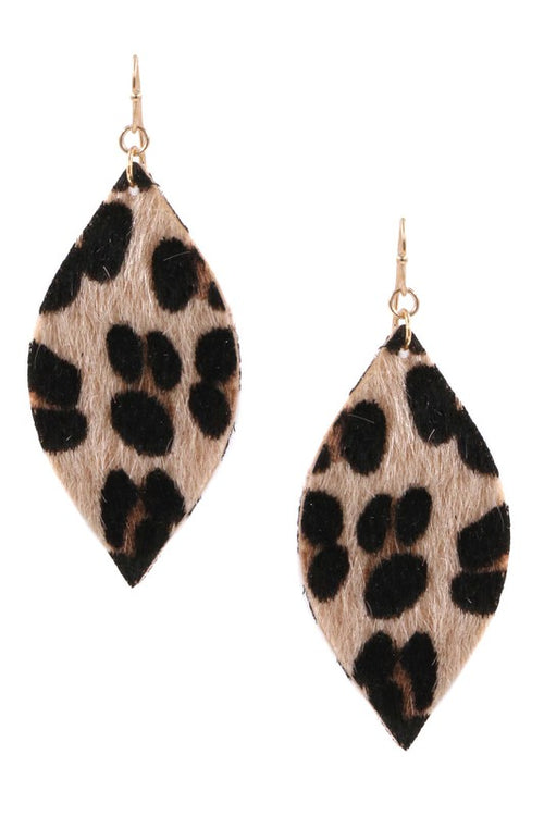 Echoes Lightweight Faux Fur Earrings, Beige