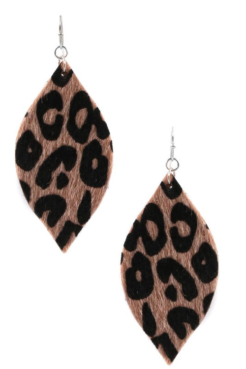Echoes Lightweight Faux Fur Earrings, Brown