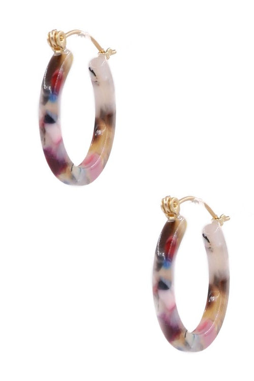 "Colors 1"" Hoop Earring"