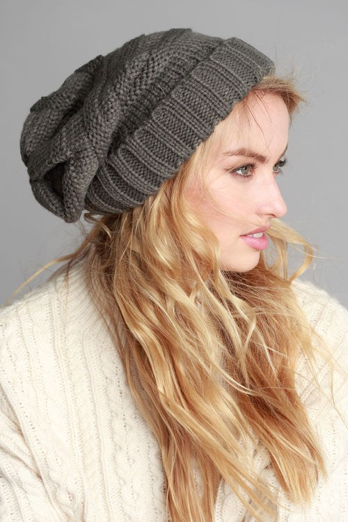 Just Chill Slouchy Beanie, Charcoal