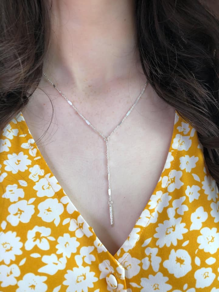 Dainty Chain with Y Bar Drop Style, GOLD