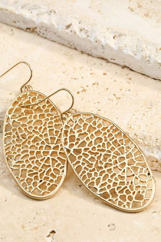 Coral Inspired Earrings, Lightweight, GOLD or SILVER