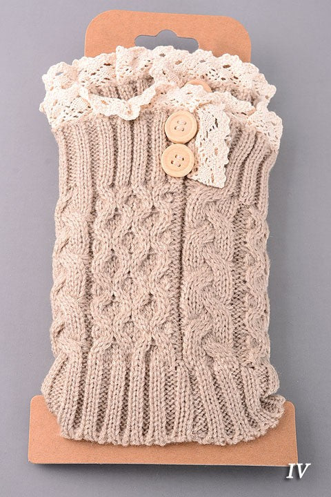 Dress 'em up Boot Cuffs, Tan