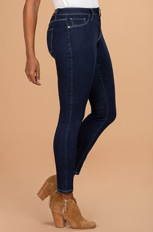 "Confident Women's Skinny 30"" Length Jean, Dark Denim"