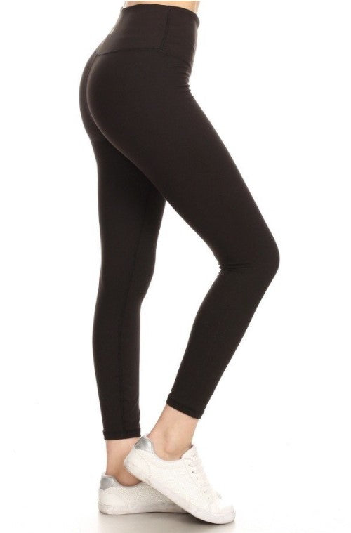 All The Feels Premium 5-inch Yoga High Waist Solid Leggings, Black