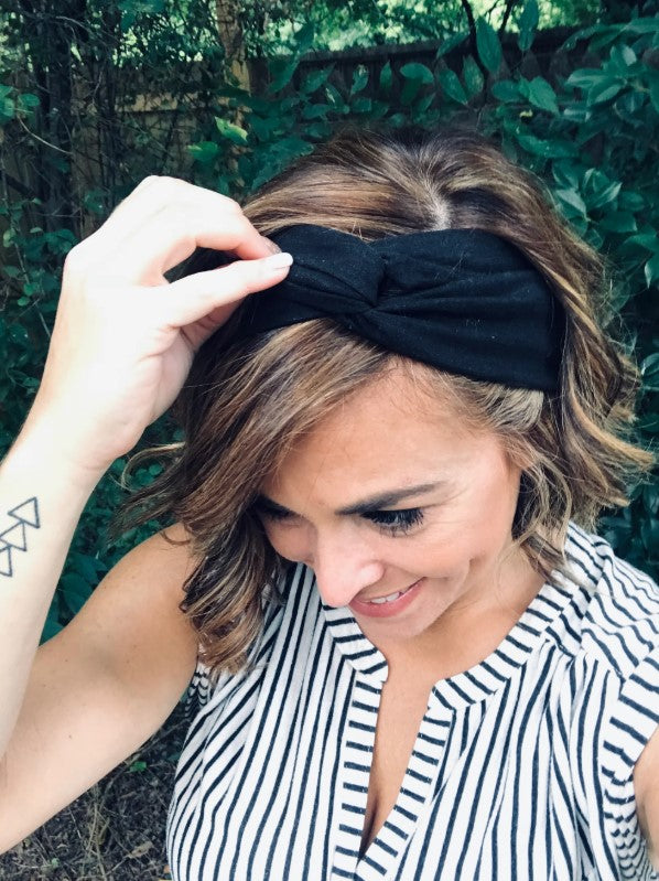 Wired Adjustable Headband, 2 Colors, Black Linen or Animal Print
