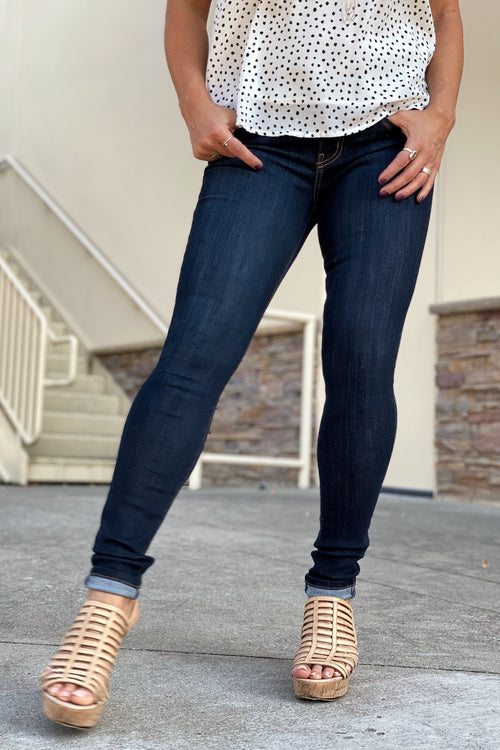 Work Work Straight Leg Jeans by Judy Blue - Dark Denim