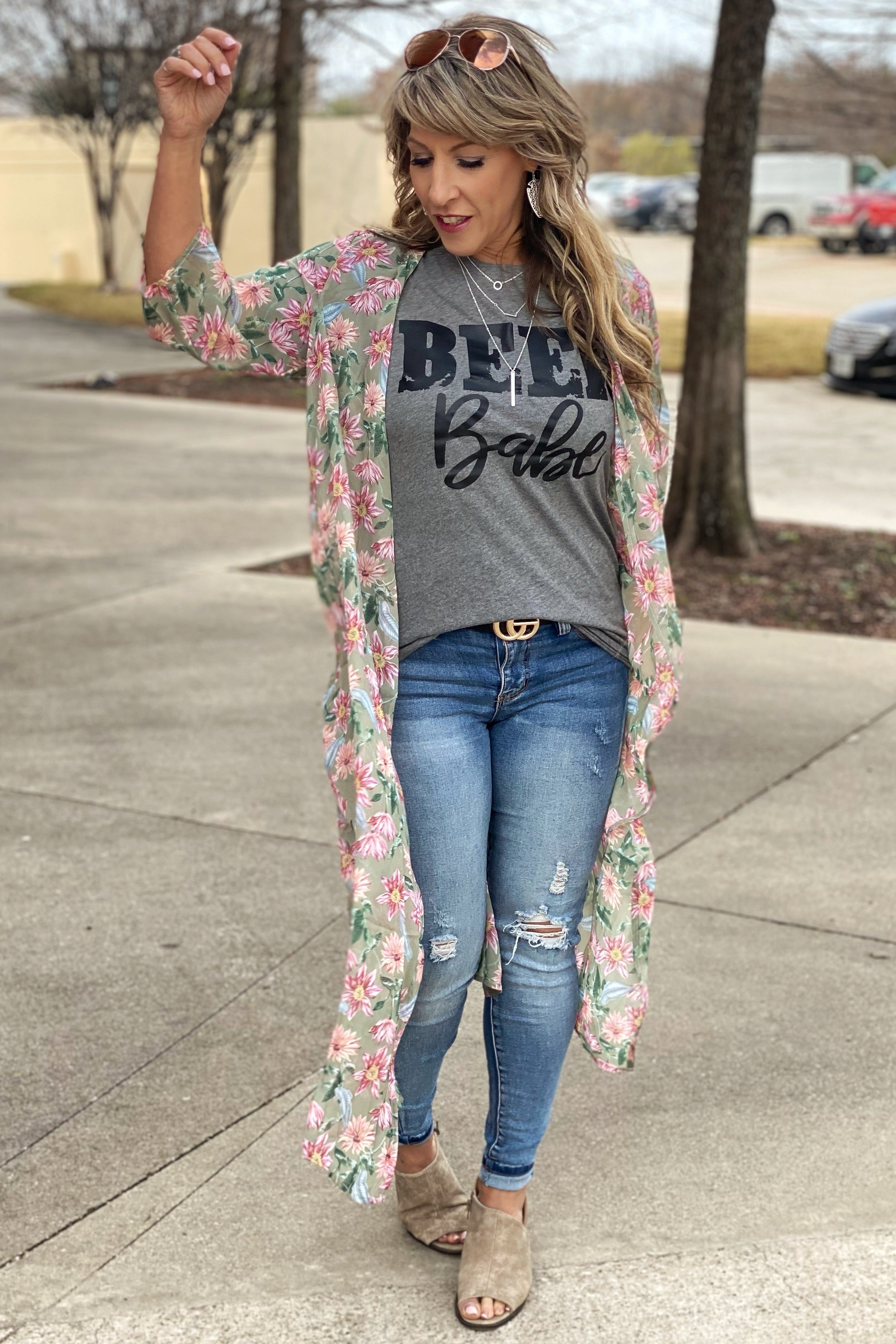 Holding On For Love Floral Duster Kimono