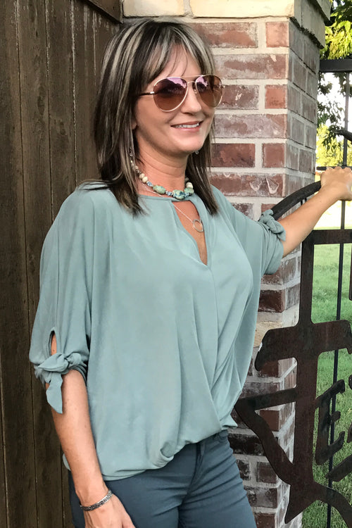 Texas Sage Knit Top