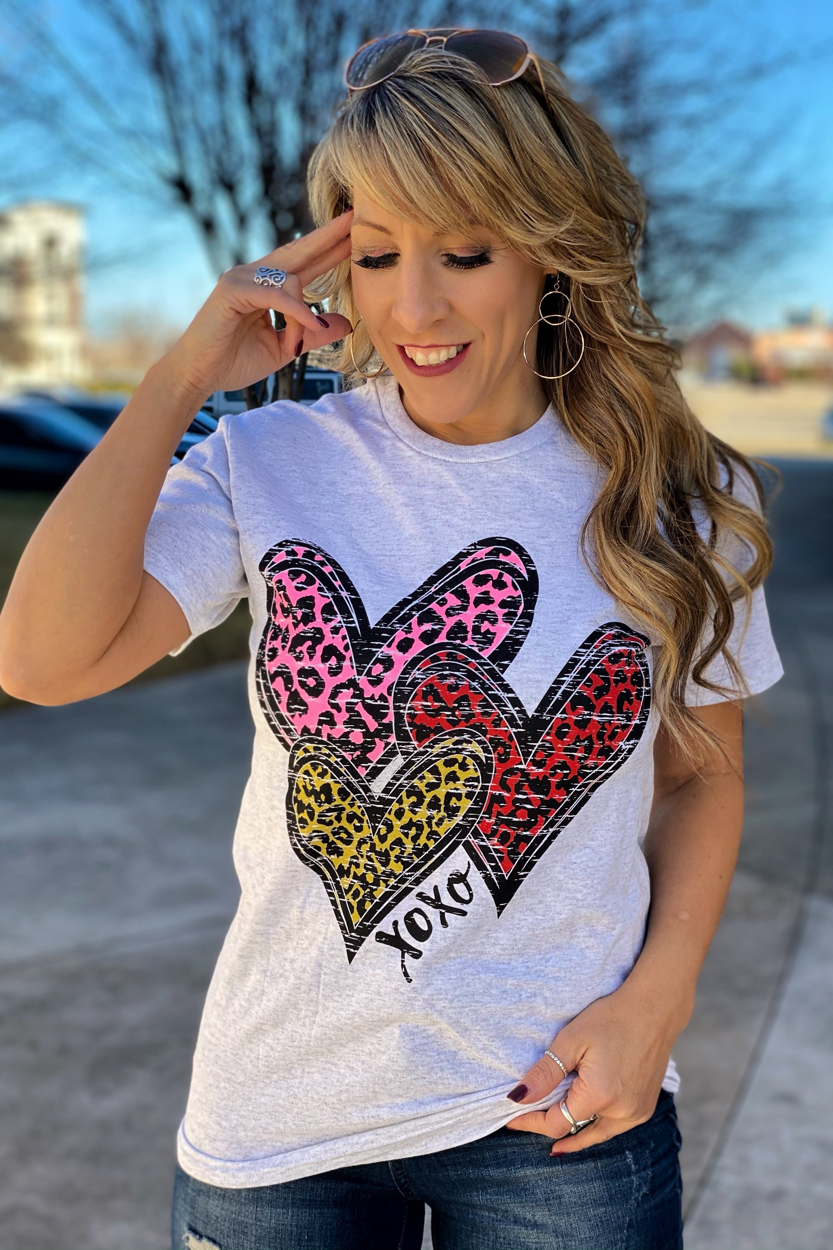 All The Hearts Delta Pro Crew Neck Tee
