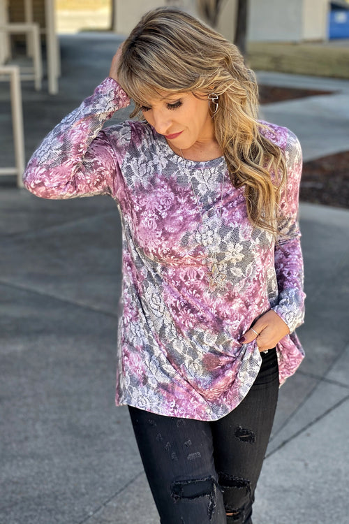 Keep On Loving You Long Sleeve Floral Knit Top