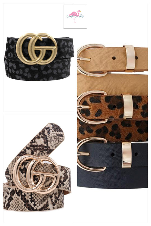 Faux Leather Belt-3 Styles to choose from