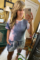 Tie Dye Print French Terry Knit Lounge Shorts S-XL