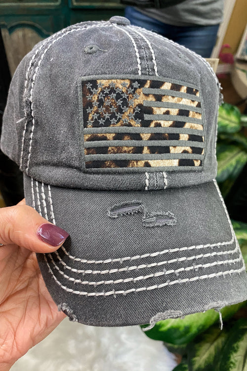 Born In The USA Distressed Trucker Cap with Velcro Back
