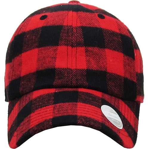 Plaid To See You Adjustable Strap Hat