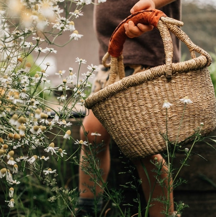 forage basket | tan