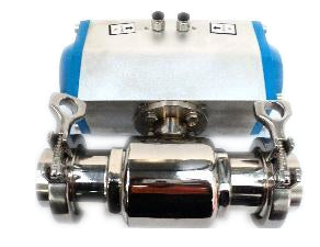 Triclover Two Way Actuated Ball Valve