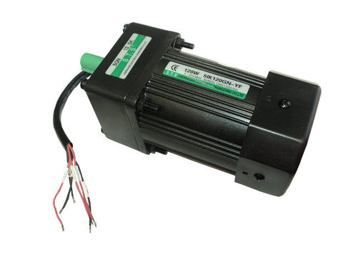 Motor With Gearbox (New), Models: 120W 51K120GN-YF Motor, 5GN 12.5K Gearbox