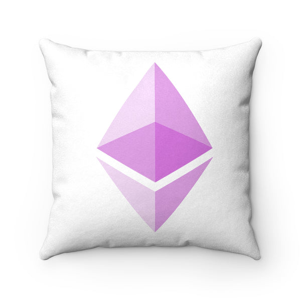 Ethereum Faux Suede Square Pillow
