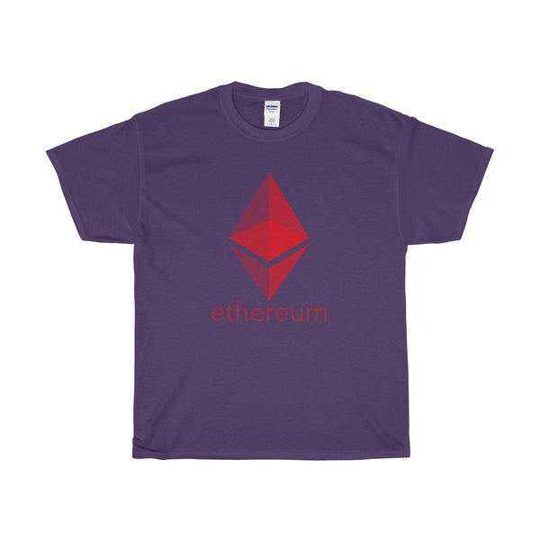 red ethereum text and prism