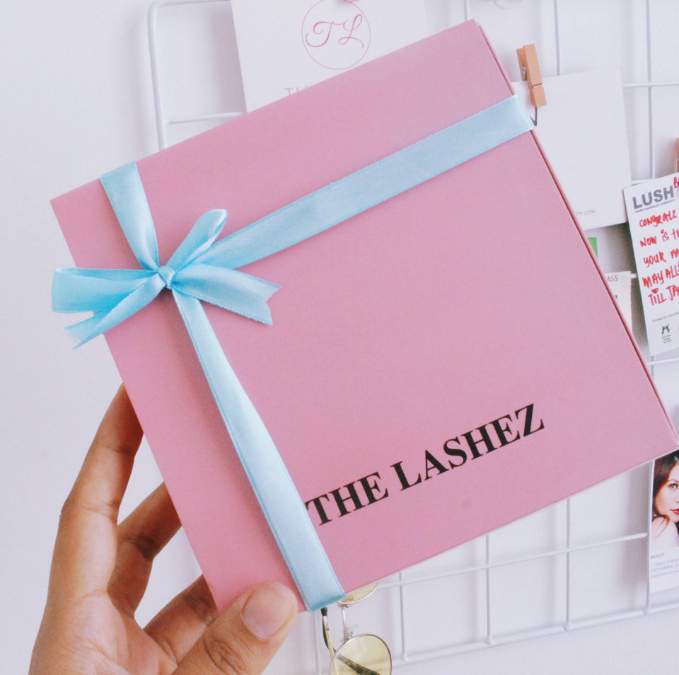 Human Hair Lashez Gift Set with lash curler