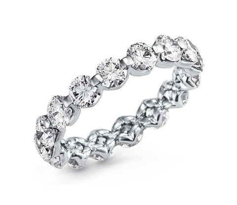 Floating Diamond Eternity Ring in Platinum (3 ct.