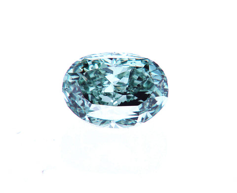 FANCY VIVID BLUE GREEN COLOR GIA Certified Natural Loose Diamond Oval Cut 1/2 CT SI2