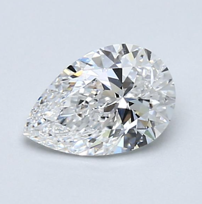 0.81 CT F Color SI2 Clarity GIA Certified Pear Shape Cut Natural Loose Diamond