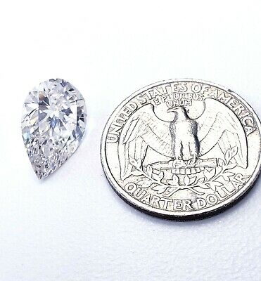 Huge 5 CT J/VS1 Natural Loose Diamond Pear Shape Cut GIA Certified