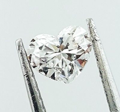 GIA Certified Heart Cut Natural LOOSE DIAMOND 0.70 Carats E Color SI2 Clarity