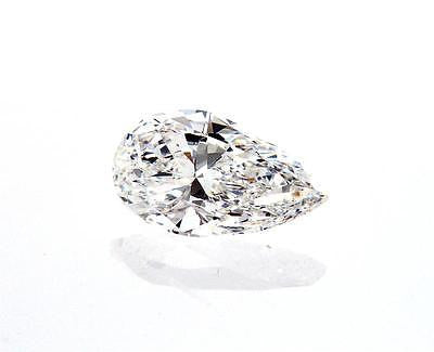 GIA Certified Natural Pear Cut Loose Diamond 0.71 Carats E Color VVS2 Clarity