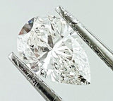 GIA Certified Pear Cut Natural Loose Diamond 0.81 Carats F Color SI2 Clarity