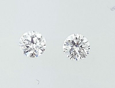 GIA Certified Natural Round Cut Diamonds Matched Pair 1 CT for Diamond Studs