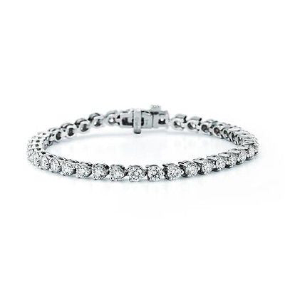 Certified DIAMOND TENNIS BRACELET 6 CT VS2 Clarity14k White Gold $12,000 Retail