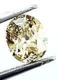 GIA Certified Natural Oval Cut Fancy Yellow Loose Diamond 1.00 Carat SI2 Clarity