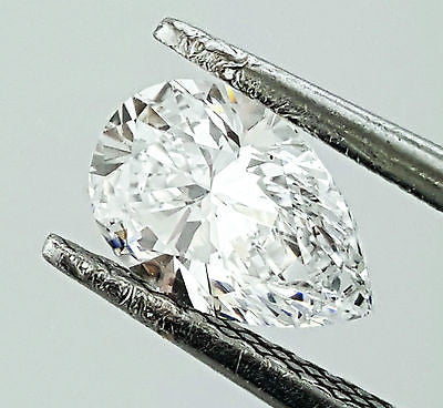 GIA Certified Pear Cut Natural Loose Diamond 0.81 Carats D Color VS2 Clarity