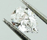 GIA Certified Natural Pear Cut Natural Loose Diamond 0.80 Carats D Color VS2