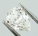 GIA Certified Pear Cut Natural Loose Diamond 3/4 Carat G Color SI1 Clarity