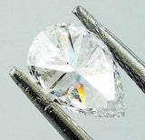 GIA Certified Pear Cut Natural Loose Diamond 0.73 TCW D Color VS2 Clarity