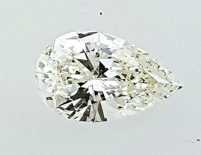 GIA Certified Natural Pear Cut Loose Diamond 3/4 Carats I Color SI1 Clarity